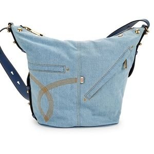 Marc Jacobs Denim Studded Crossbody Bag